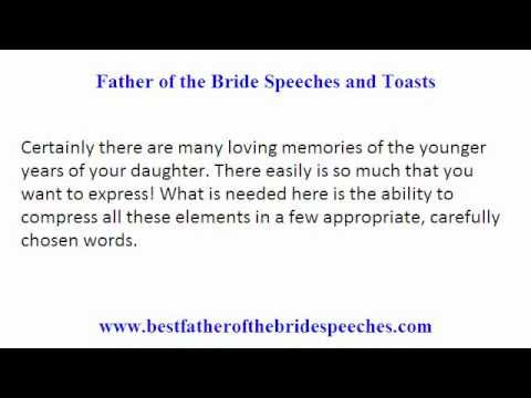 Father Of The Bride Wedding Toasts Smart Tips On Writing Father Of Bride Speeches And Toasts Bride Speech Wedding Speech Best Man Wedding Speeches