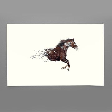 Any horse person would fall in love with this, I could see it blown up in canvas over a fireplace!