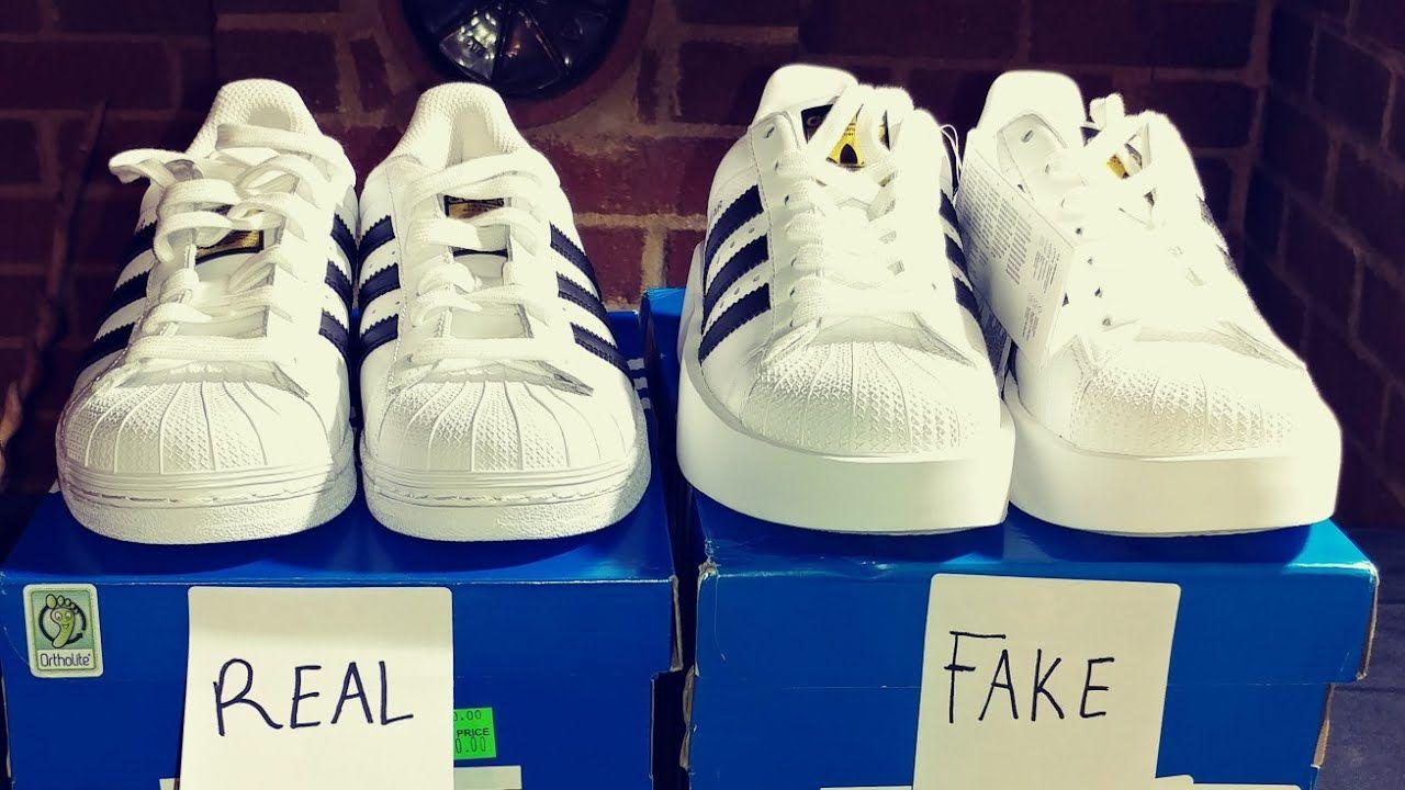 REAL VS. FAKE ADIDAS SUPERSTAR SHOES! #adidas #adidasshoes #Fake ...