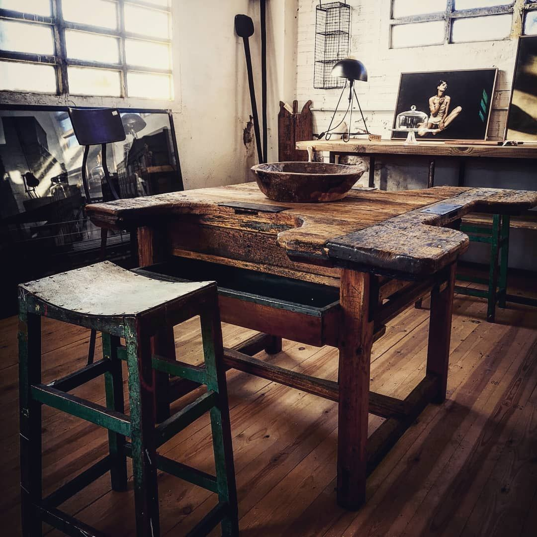 "ÚLTIMA PARADA STORE&RESTAURANT on Instagram: ""JEWELRY TABLE #industrialfurniture #industrialdecor #wabisabi #wood #kitchen #home #barcelona #emporda #bespokefurniture #amida #amedida…"""
