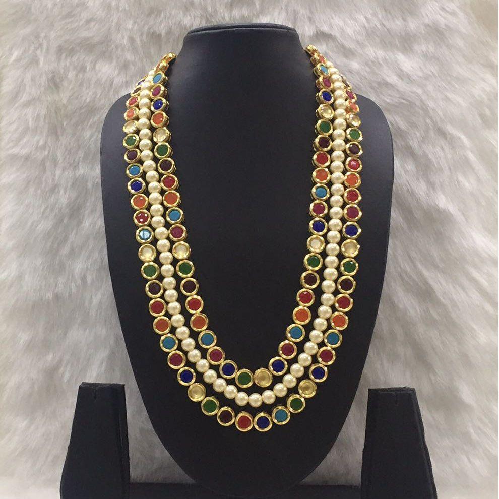 Navratna pearl necklace ring jewelry deara dearafashion