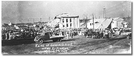 New London, Texas - New London School - After the explosion.