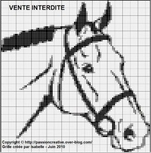 grille tricot cheval