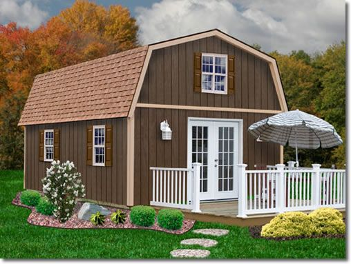 Richmond 16 x 28 Wood Shed Kit by Best Barns would be great for