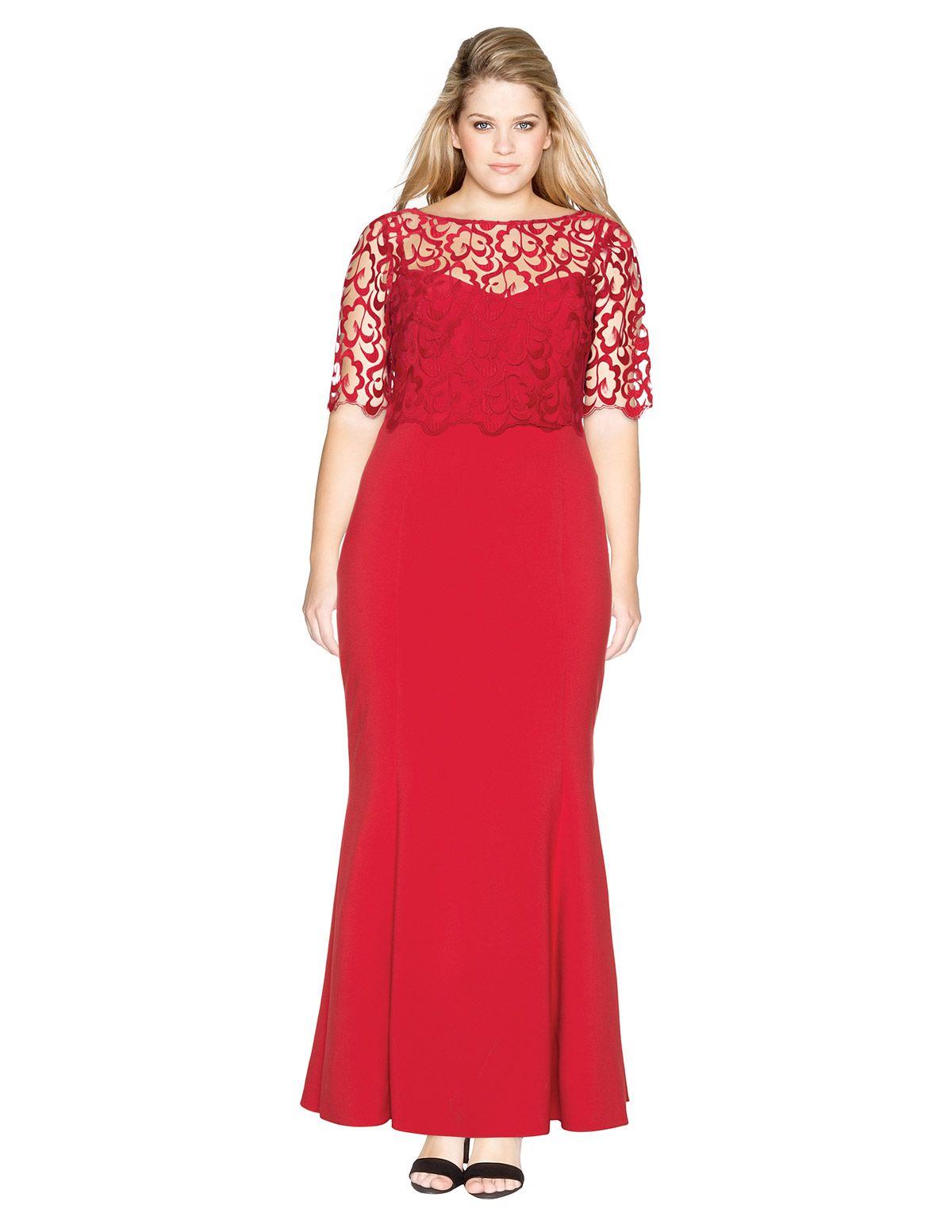 Ariella Abendkleid mit Spitze in Rot | Anziehsachen | Pinterest ...
