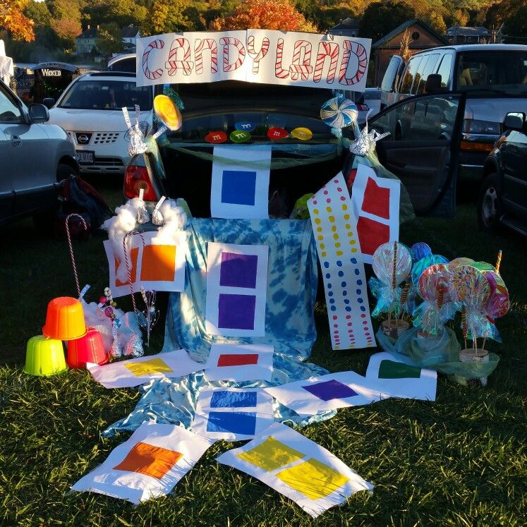 Candyland trunk or treat Halloween ideas Pinterest Candyland - halloween trunk or treat ideas