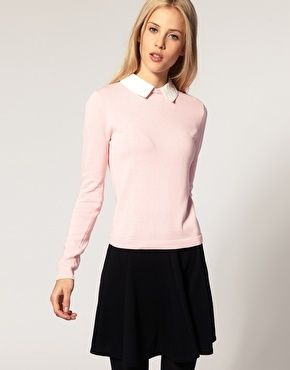 ASOS Lace Collar Sweater - StyleSays