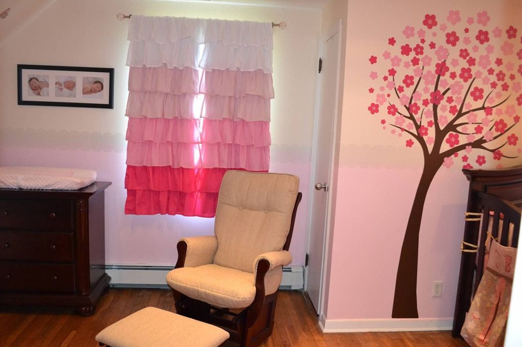 Pink Ombre Blackout Curtains