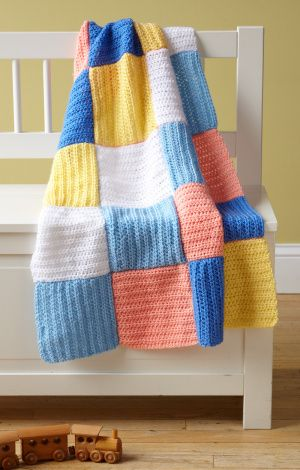 Cute beginner crochet baby afghan from Lion Brand #crochet #afghan ...