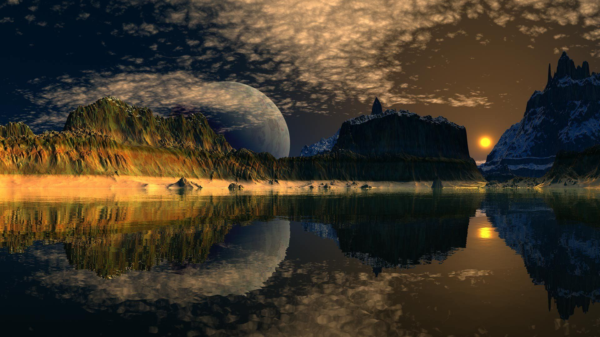 computer-background-cool-desktop-landscape-lake-desktops-moon