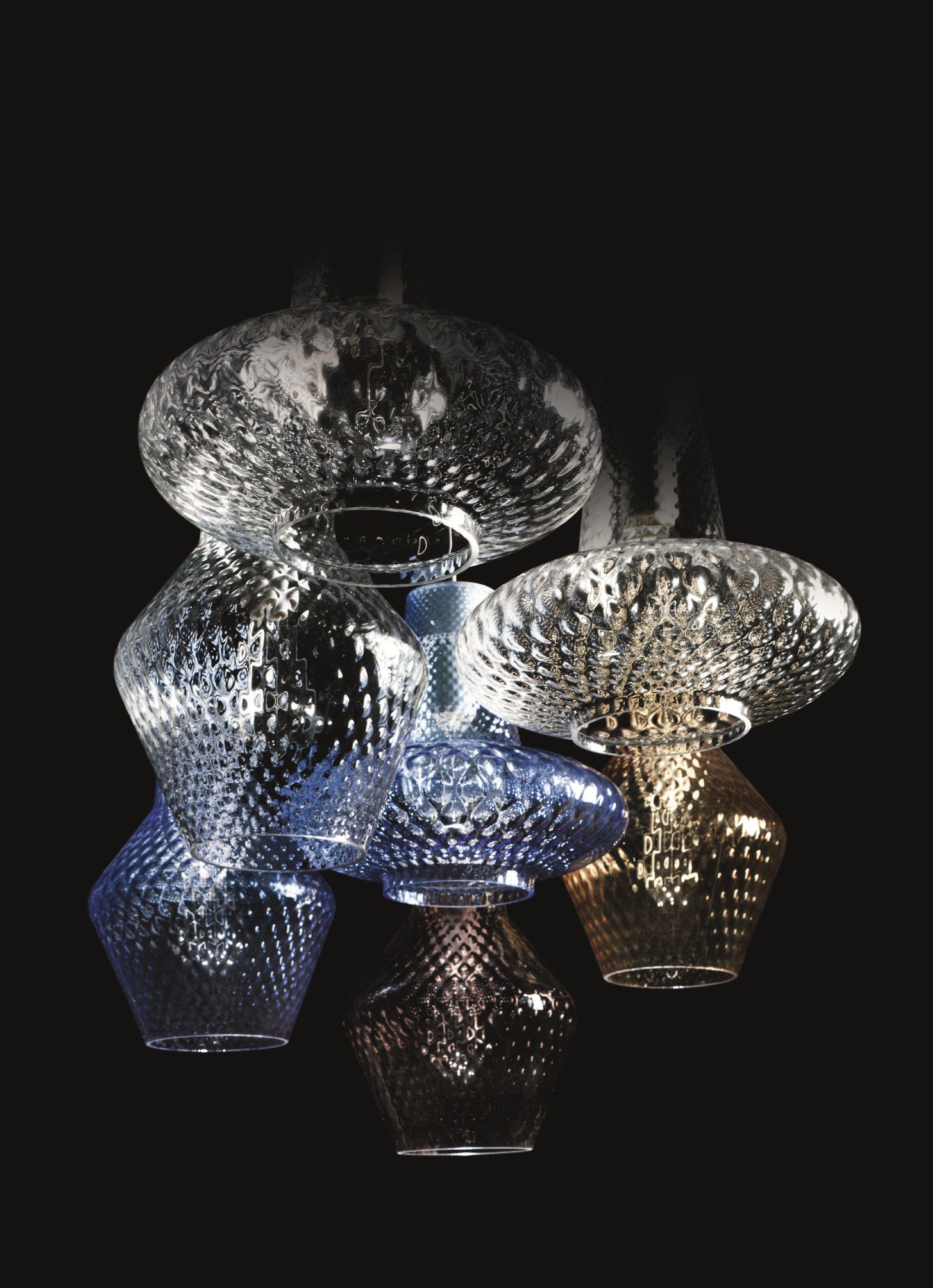 Blown Glass Pendant Lamp Romeo E Giulietta By Federicodemajo Design Federico De Majo Blown Glass Pendant Glass Pendant Lamp Blown Glass Lighting