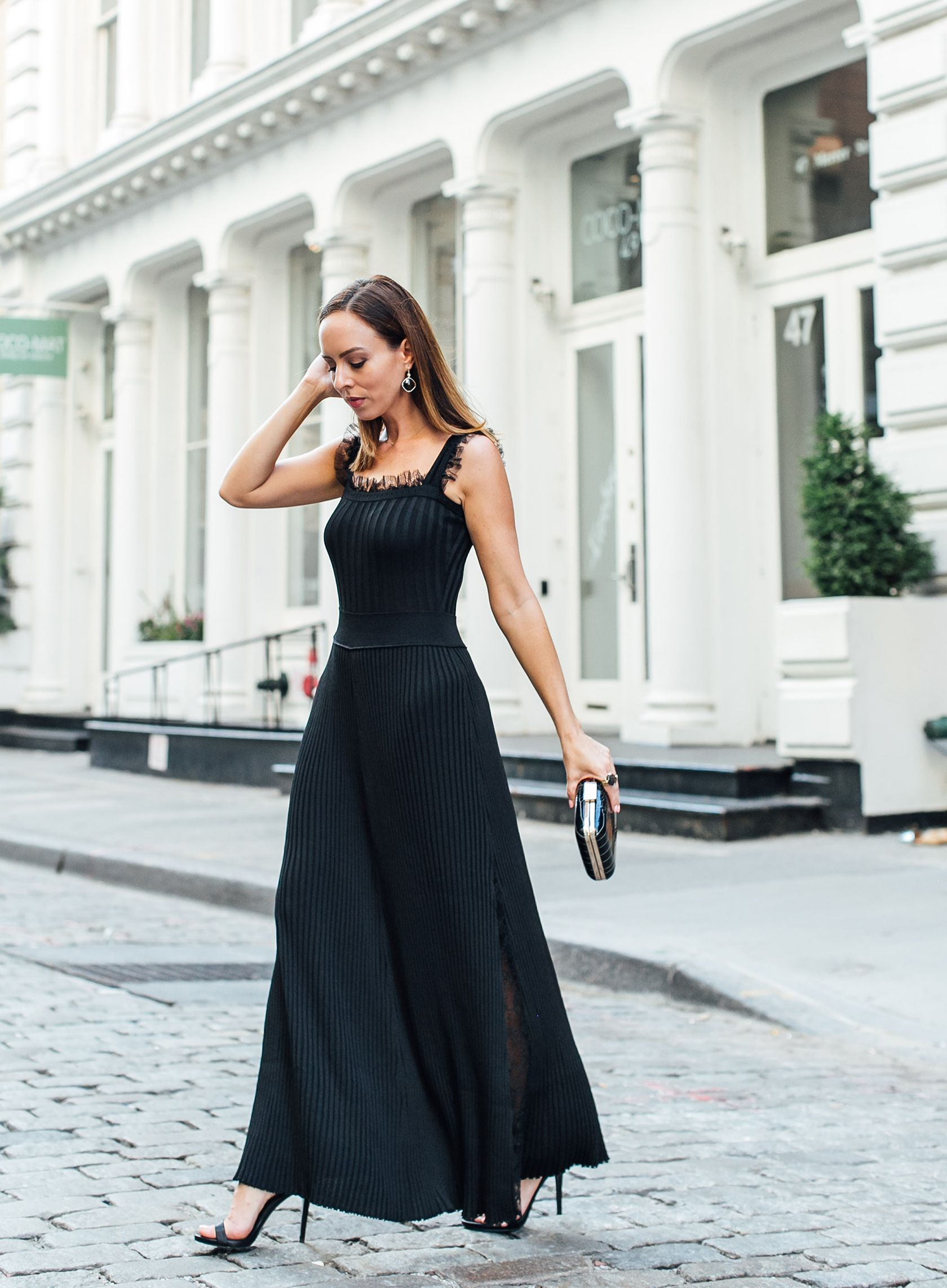 A black evening dress that works for every fancy affair fashion