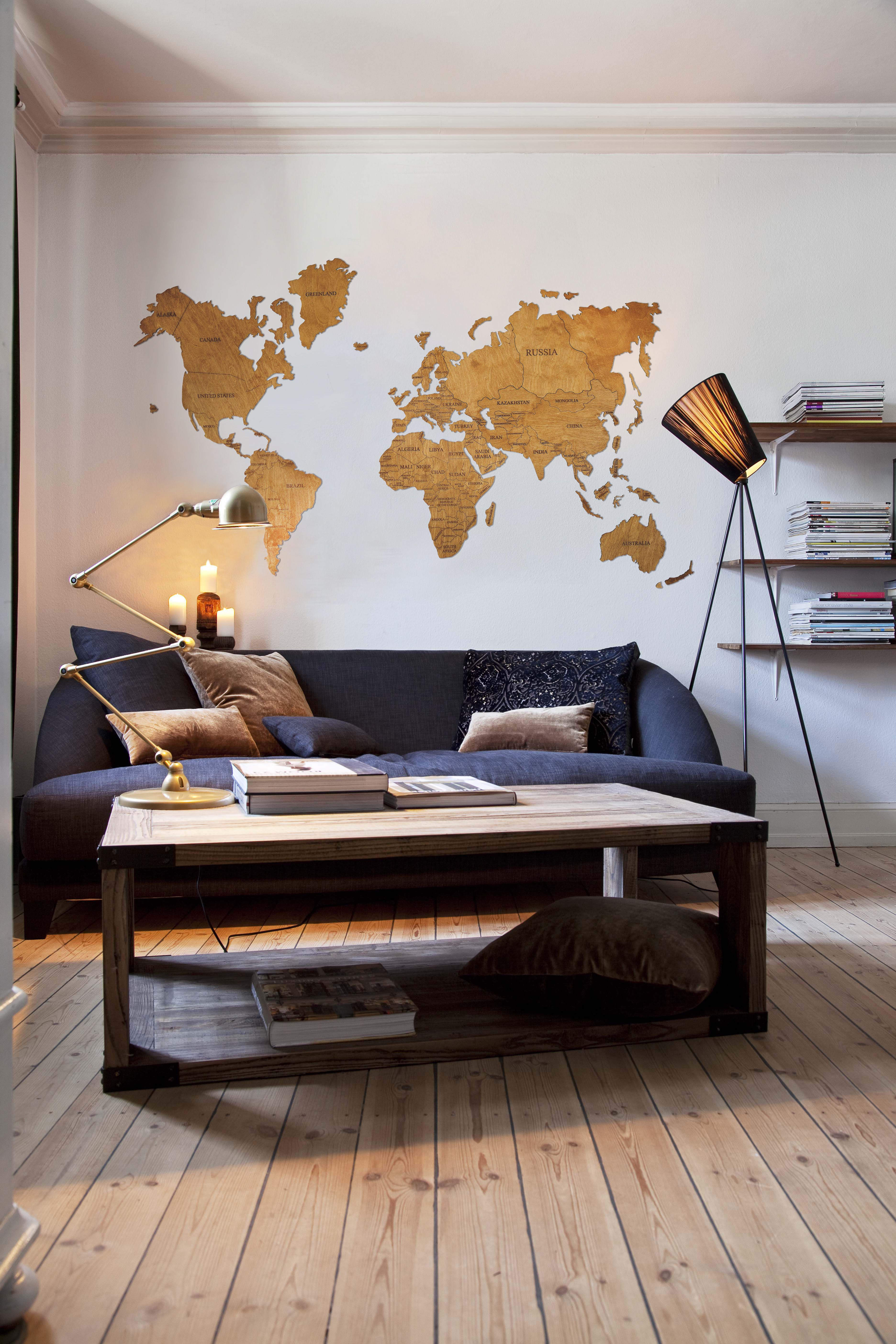 Rustic Wall Map World Travel Map World Map Wall Art World Map Etsy In 2020 Living Room Decor Rustic World Map Decor Map Wall Decor