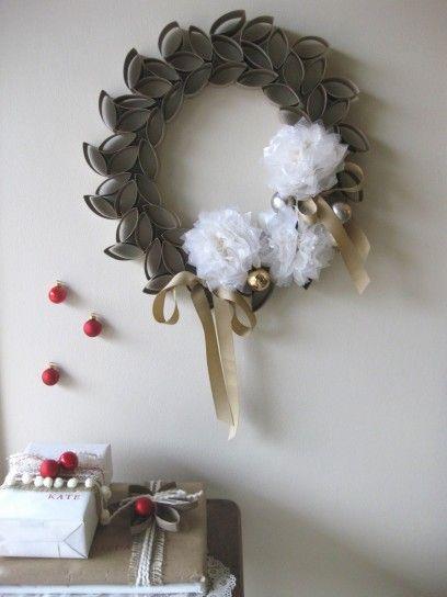 ghirlande natalizie di carta - decorazioni natalizie fai da te