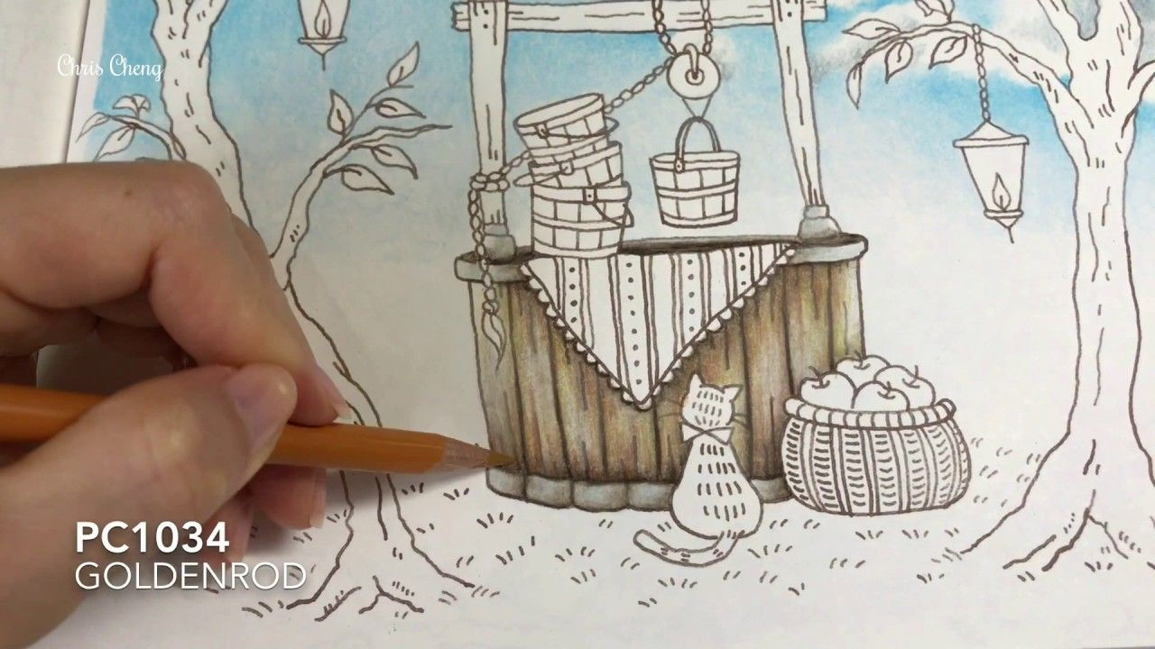 Make a Wish - Part 2: Wooden Well and Buckets Coloring   Romantic Countr...