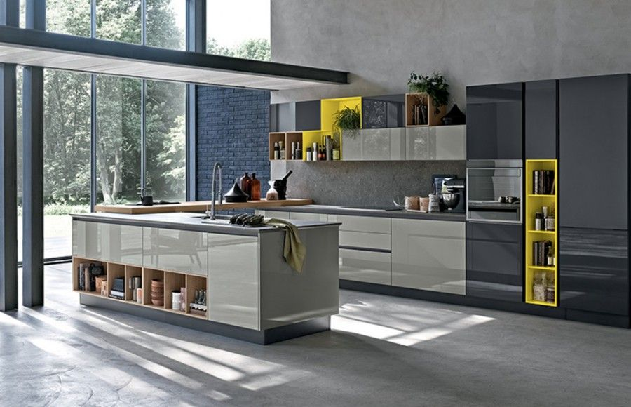 Cucina con isola Stosa Alevé | Варианты модульной кухни | Pinterest ...