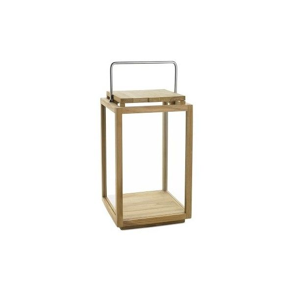 Williams-Sonoma Larnaca Outdoor Teak Lantern ($175) ❤ liked on ...