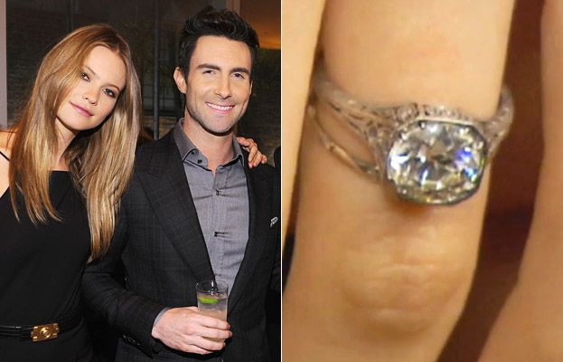 Behati Prinsloos Engagement Ring See the Photo Adam levine