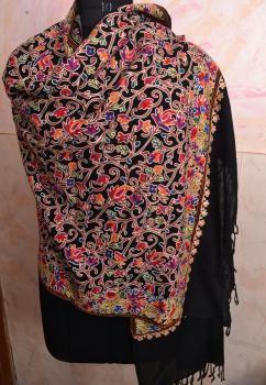 7c6e912b92 Kashmiri Embroidered Cashmere Shawl Pashmina - Kashida | Shawls for ...