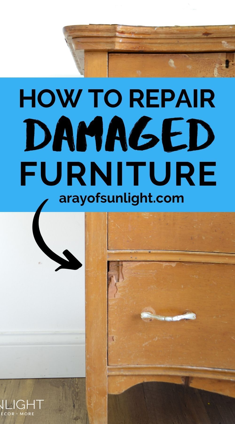 How To Repair Wood Furniture That Has Been Chewed By A Pet (With Images) | Repair wood furniture