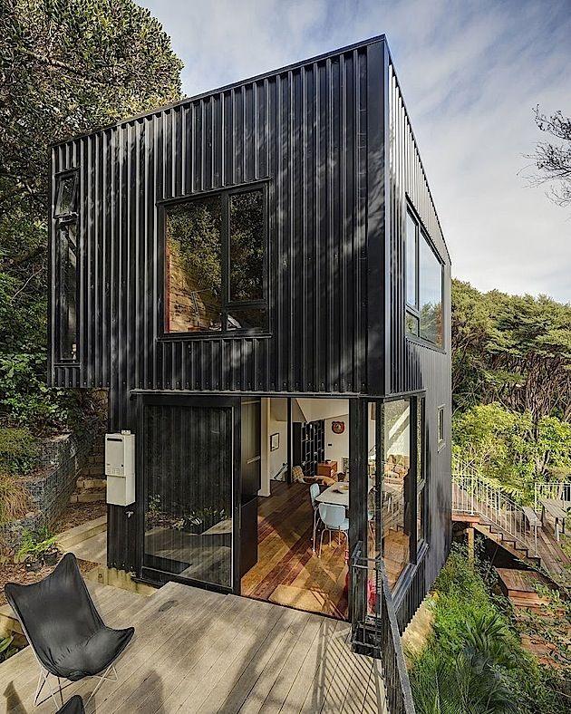Architektur Ein kleines gemütliches Haus in Neuseeland KlonBlog - welche treppe fr kleines strandhaus