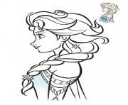 Coloriage Elsa Reine Des Neiges De Profil 2018 Dolls In 2019