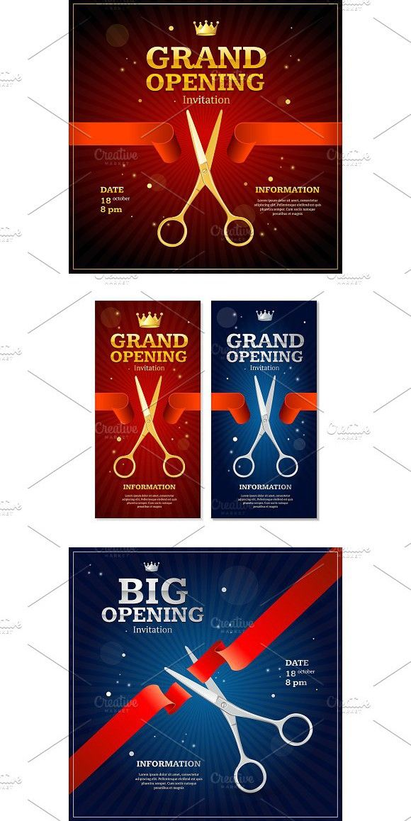 Grand Opening Invitation Card Illustrations Grand Opening
