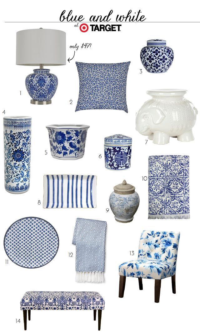 Blue and white finds at target emily a clark nice home and blue and - Blue home decor accessories ...