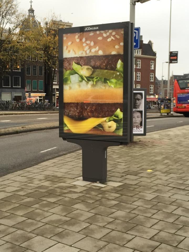 Amsterdam burger billboard