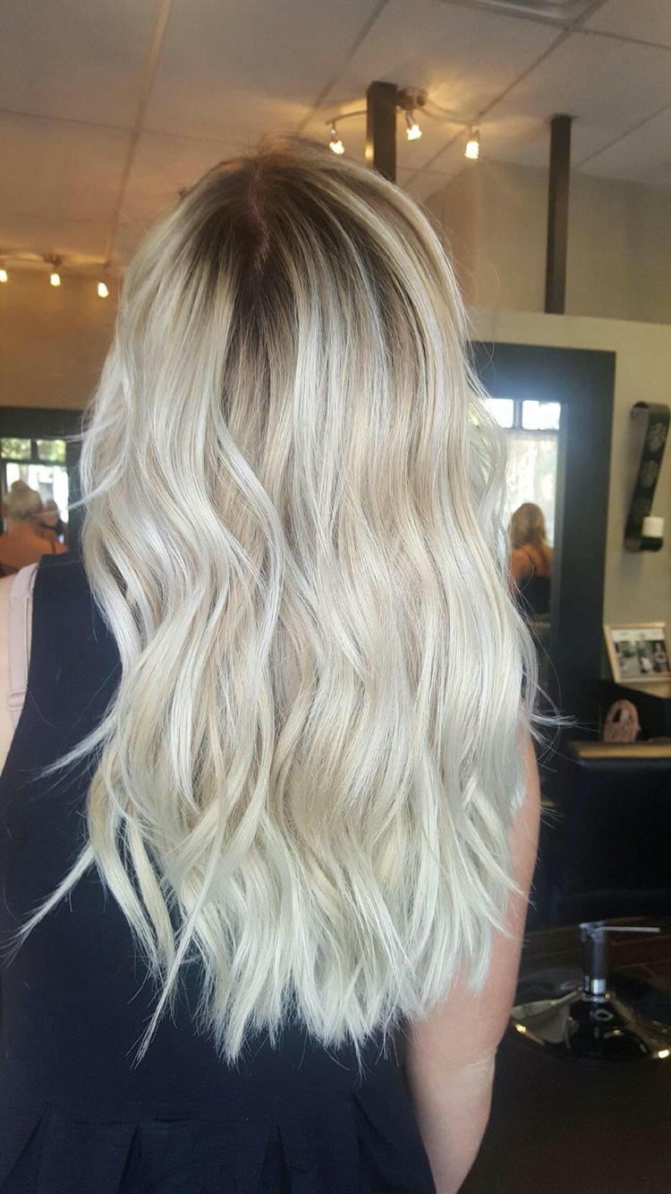 Rooty platinum blonde by Alisha at The Beauty Parlor ...