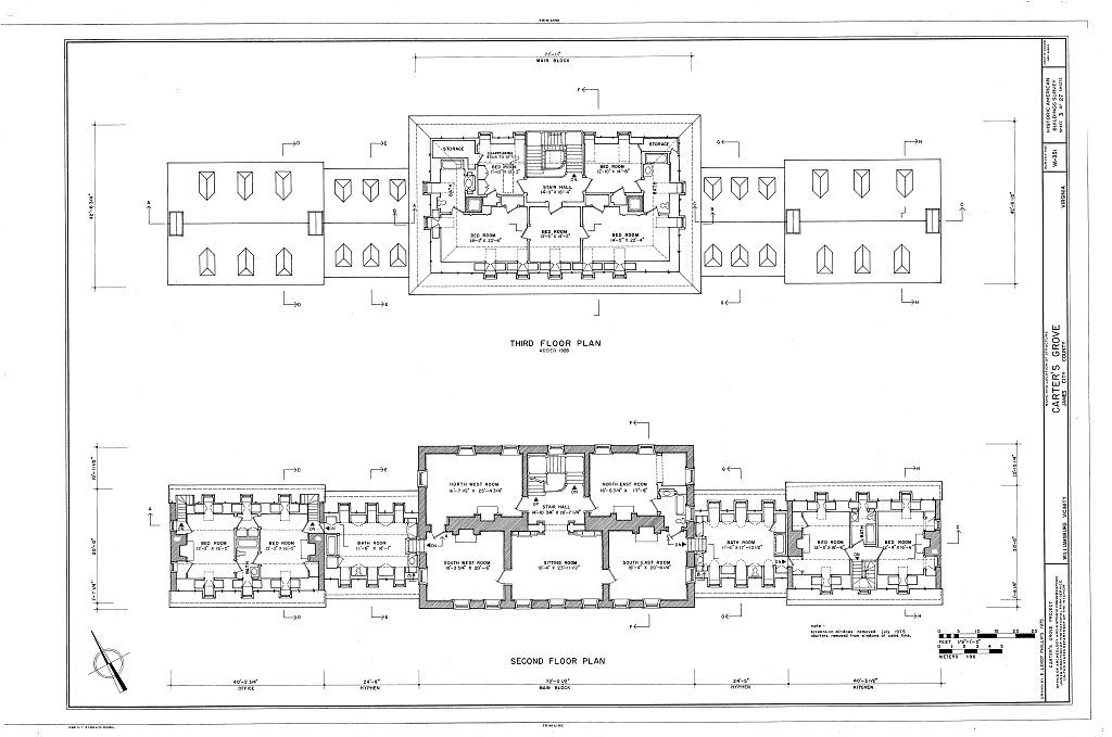 Carters Grove Floor Plans Family History Pinterest