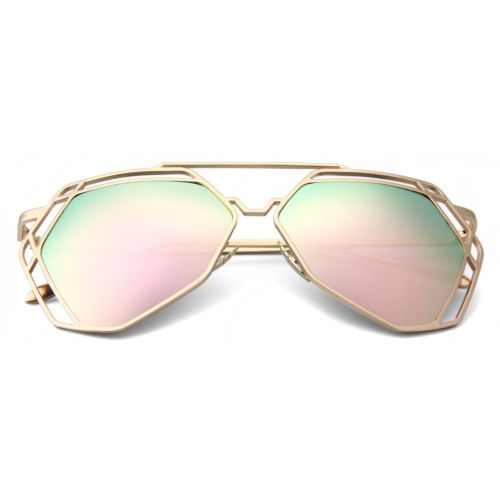 sunglasses 2017 women new fashion cat eye vintage gold frame ladies glasses