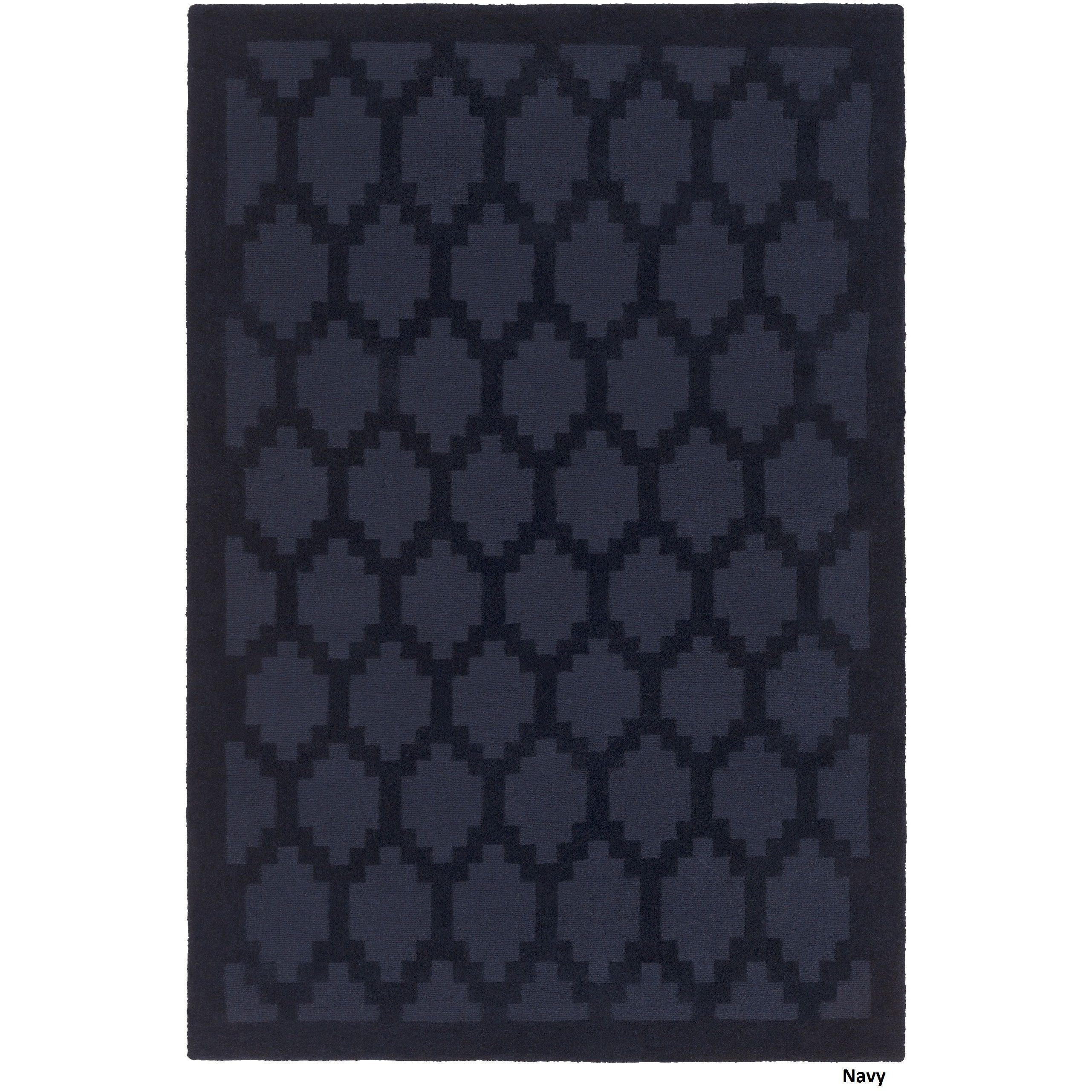 $230 6 x 9 Artistic Weavers Handloomed Hatfield Wool Rug (6' x 9'  Green  WoolBlue ...