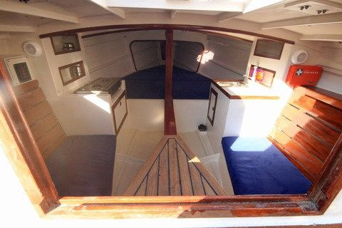 Cape Henry 21 interior   Lapstrake Plywood Boat Plans ...