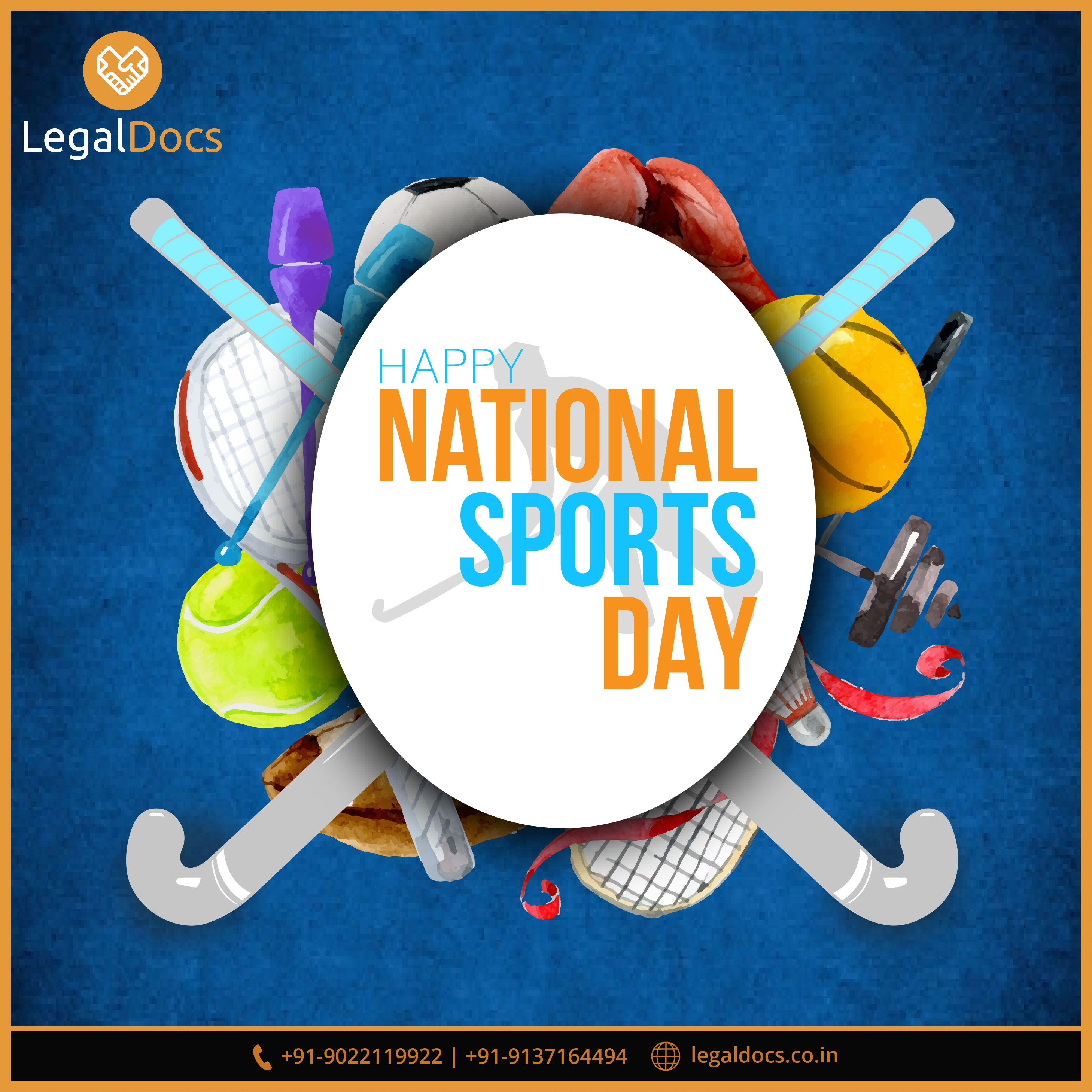 Happy Nationalsportsday Greetings To All The Sports Enthusiasts And Salute The Sports Stars Of India Sportsda National Sports Day Sports Day National Sport