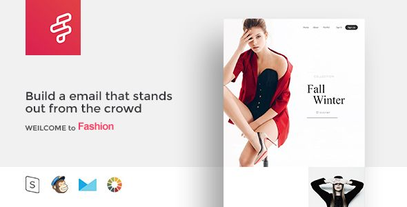 Fashion F Responsive Email Template Minimal Templates Marketing