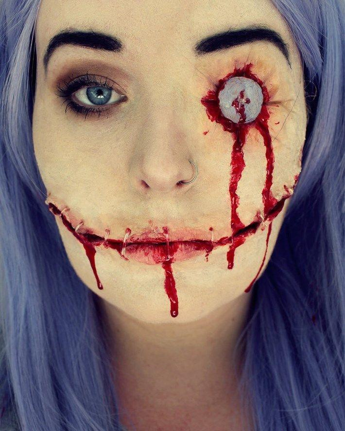 Creepy Halloween Makeup Ideas | Creepy halloween makeup, Creepy ...