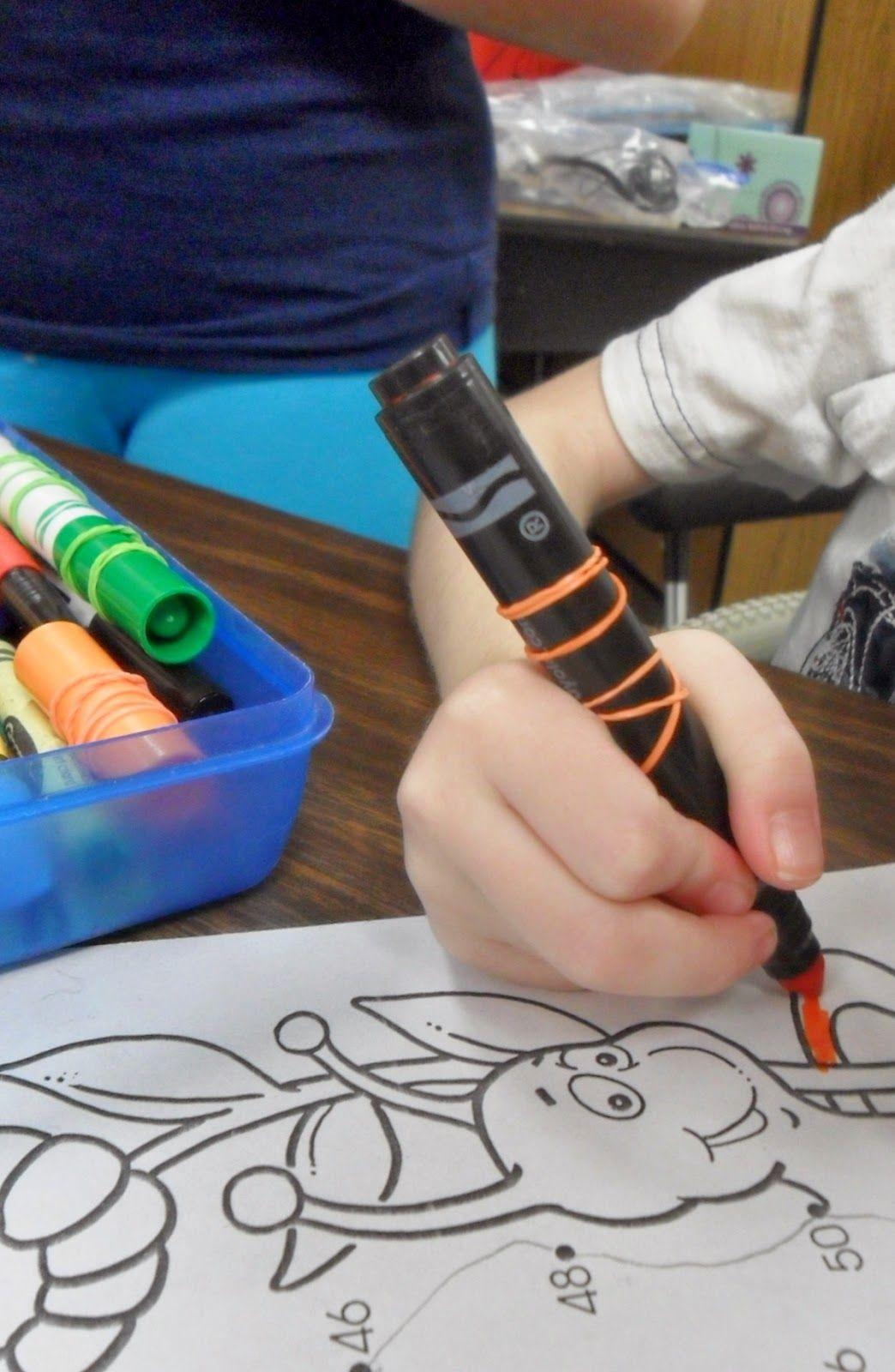 Ot Tools For Public Schools Rubber Banded Markers For Better Traction