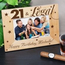 21st Birthday Personalized Wood Picture Frames
