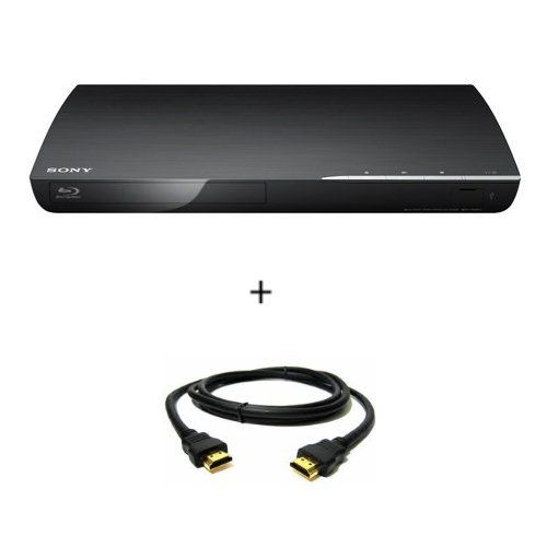 Sony bdp s390 blu ray disc player with wi fi black with hdmi cable televisions fandeluxe Gallery