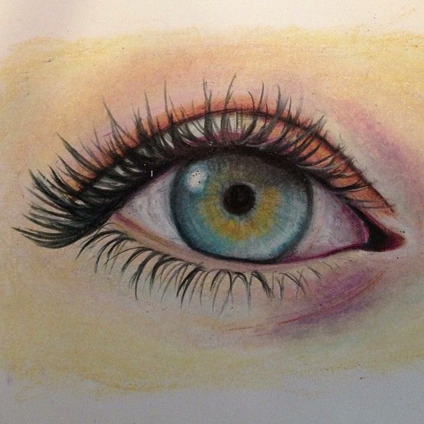 Colored Pencil Eye Drawing Art My First Attempt At Colored