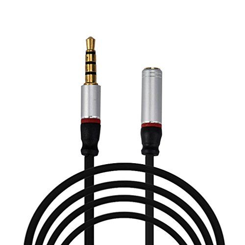 Kingko® 4FT 3.5mm 4-Pole AUX Extension Cable Stereo Audio Headphone Male to Female (Black) No description (Barcode EAN = 0644741817826). http://www.comparestoreprices.co.uk/december-2016-4/kingko®-4ft-3-5mm-4-pole-aux-extension-cable-stereo-audio-headphone-male-to-female-black-.asp