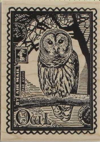 Owl Stamp Gift Tag Idea Owl Post Owl Stamp
