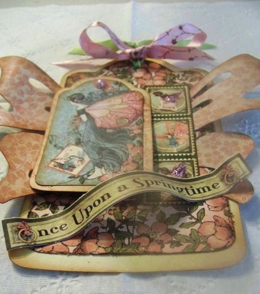 Beautiful Once Upon a Springtime Tag by Paula Calvanico shared on our Ning gallery! #graphic45 #tags