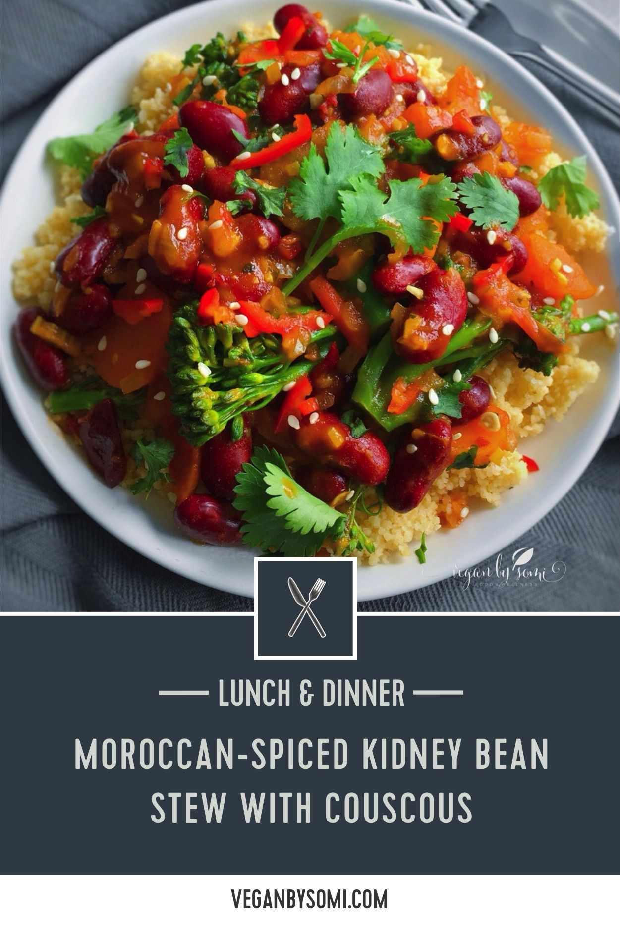 Moroccan Spiced Kidney Bean Stew With Couscous