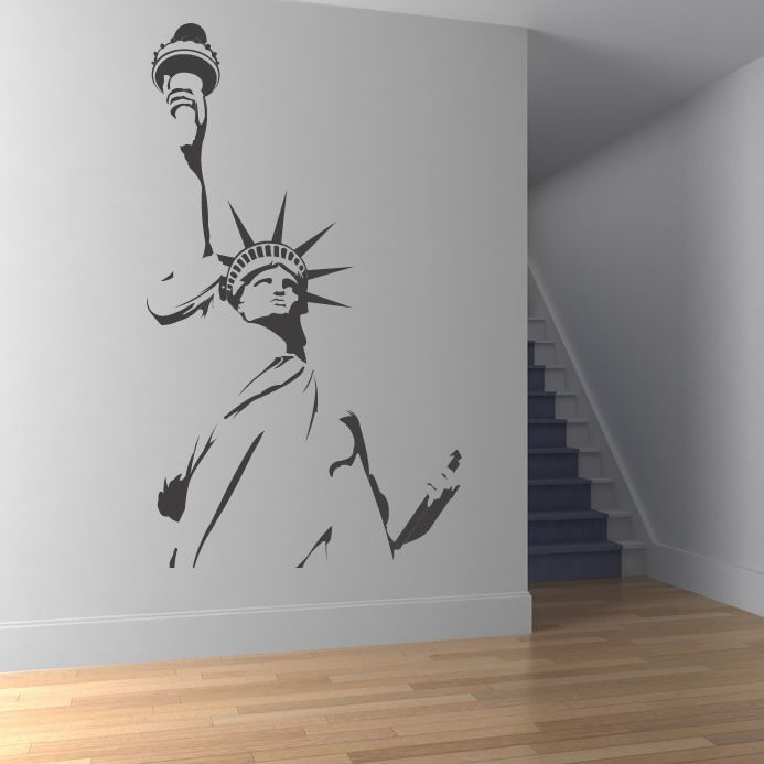 Statue Of Liberty Outline New York Wall Stickers Wall Art Decal Transfers
