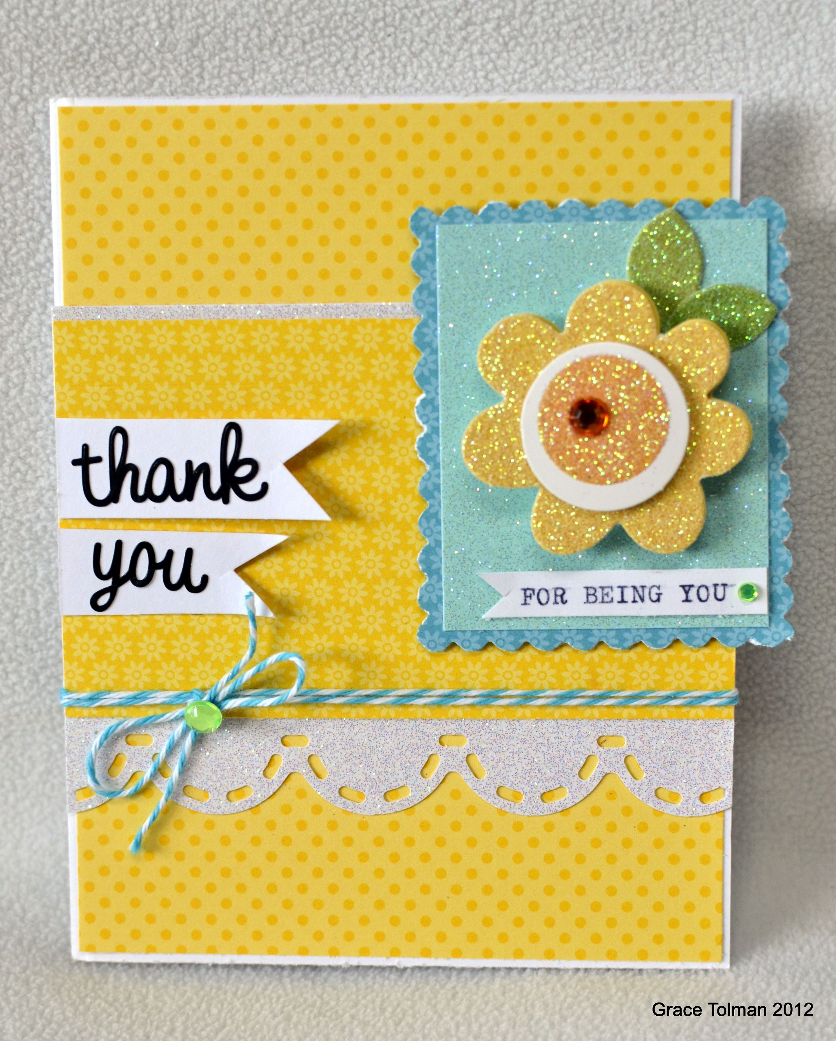 Thank You For Being You Card Ella Publishing Scrapbook