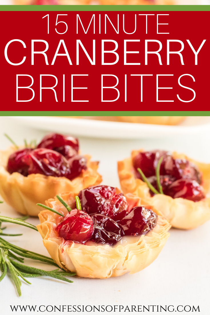 15 Minute Cranberry Brie Bites #cranberrybriebites Are you searching for a quick recipes for a delectable appetizer? Cranberry brie bites are the perfect addition to your next holiday party! These simple cranberry brie appetizers are so easy to prep, but look like you slaved all day in the kitchen! #partyappetizers #appetizer #holiday #party #recipe #cranberrybriebites