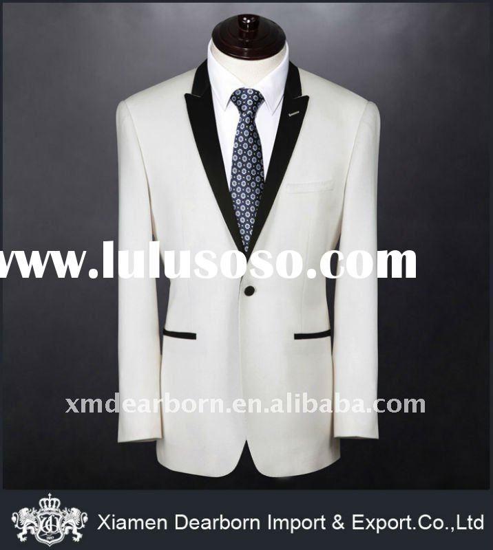 elegant black suits for men | the black well white formal wedding ...