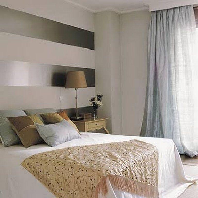 Resultado de imagen de cabeceros pintados a rayas ideas for Papeles para empapelar dormitorios